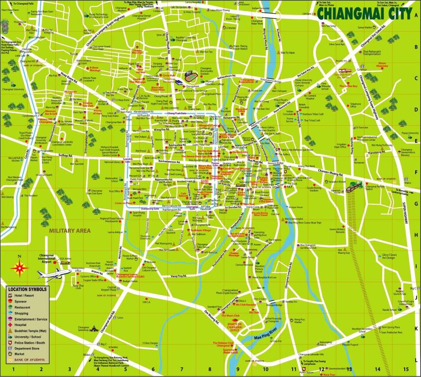 Chiangmai-City-Map