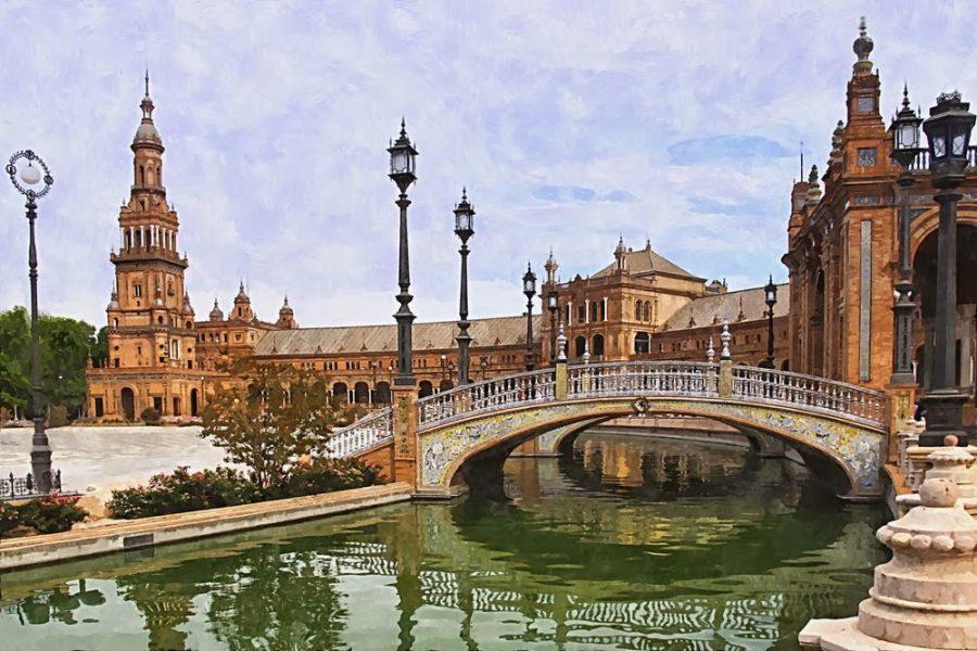 Plaza-de-Espana,-Seville